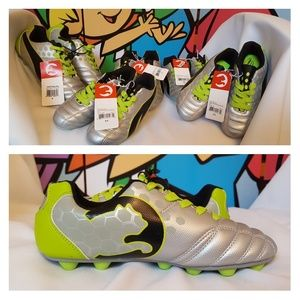 PUMA ProCat Youth Soccer Cleats Lime Green Silver